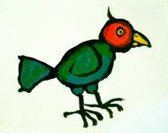 3890 [Vogel met gele snavel]