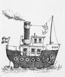 3898 [Stoomboot met bungelend figuurtje]