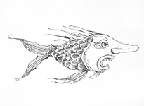3909 (Vis met mensengezicht)