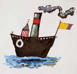 3937 [Bootje met driekleurige vlag]