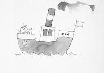 3939 [Lezend jongetje op een boot)