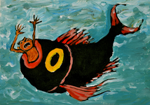 3946 [Vis slokt schreeuwend figuurtje op]