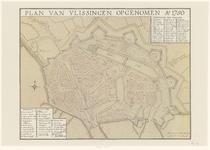 3963 Plan van Vlissingen opgenomen Anno 1750