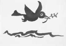 4061 [Vogel met tak in zijn snavel]