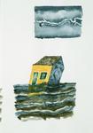 4079 [Deels onder water gelopen huisje]