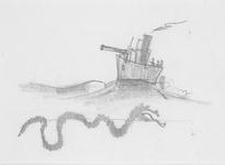 4083 [Onderwater zwemmende stoorworm]
