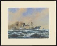 4395 [Binnenvarend koopvaardijschip van de Blue Funnel Line bij Hoek van Holland]