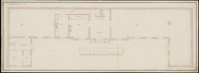 49 [Plan voor bouw Gasthuis; plattegrond begane grond]