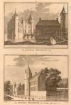 601 1. Het kasteel Westhoven. 1743. 2. Het kasteel Westhoven van een andere zijde. 1743.