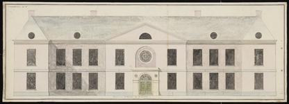 640 [Plan voor bouw Gasthuis; voorgevel]