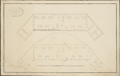 849 Beheid en plattegrond van een gebouw geschikt tot een smederij en onderscheide werkzaamheden op zijn majesteits ...