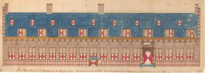 855 Het weeshuis in de Walstraat te Vlissingen, reddeloos geschoten met kogels en houwitsers, vernageld ten getale van 230