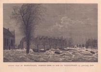 857 Gezigt naar de kerkstraat, steenen beer en Dok te Vlissingen, 15 januarij 1808