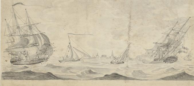 873 [Het binnenlopen van twee schepen van de Verenigde Oostindische Compagnie]