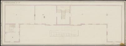 936 [Plan voor bouw Gasthuis; verdieping]