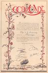 969 [Oorkonde voor C.J. Buissing voor zijn deelname aan de herbeplanting van Walcheren na de Tweede Wereldoorlog]
