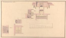 973 [Plan voor bouw Gasthuis; doorsnede kelders]