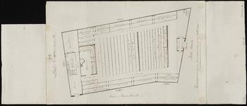 978 Plattegrond van de kerkgebouwen op de Pottekaai