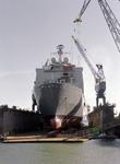 32277 Bouwnr. 377. Nederlandse amfibisch transportschip Zr. Ms. Rotterdam in dok Scheldepoort