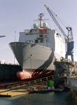 32278 Bouwnr. 377. Nederlandse amfibisch transportschip Zr. Ms. Rotterdam in dok Scheldepoort