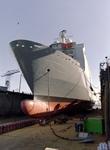 32280 Bouwnr. 377. Nederlandse amfibisch transportschip Zr. Ms. Rotterdam in dok Scheldepoort