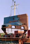752 Containerschip Gerd Sibum (IMO 9121895, bouwjaar 1998). Averij na aanvaring op 17 december 2001 met bulkcarrier ...