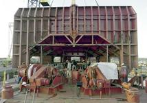 758 Containerschip Gerd Sibum (IMO 9121895, bouwjaar 1998). Averij na aanvaring op 17 december 2001 met bulkcarrier ...