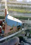 761 Containerschip Gerd Sibum (IMO 9121895, bouwjaar 1998). Averij na aanvaring op 17 december 2001 met bulkcarrier ...