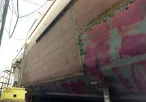 767 Containerschip Gerd Sibum (IMO 9121895, bouwjaar 1998). Averij na aanvaring op 17 december 2001 met bulkcarrier ...