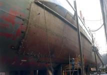 769 Containerschip Gerd Sibum (IMO 9121895, bouwjaar 1998). Averij na aanvaring op 17 december 2001 met bulkcarrier ...