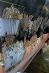 1551 Bulkcarrier Gardno (IMO 7725726, bouwjaar 1980), reparaties aan de beschadigde romp