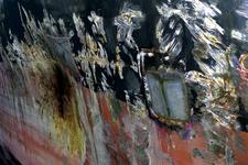 1554 Bulkcarrier Gardno (IMO 7725726, bouwjaar 1980), reparaties aan de beschadigde romp