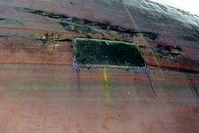1559 Bulkcarrier Gardno (IMO 7725726, bouwjaar 1980), reparaties aan de beschadigde romp