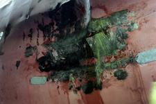 1561 Bulkcarrier Gardno (IMO 7725726, bouwjaar 1980), reparaties aan de beschadigde romp