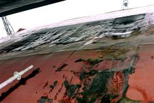 1562 Bulkcarrier Gardno (IMO 7725726, bouwjaar 1980), reparaties aan de beschadigde romp