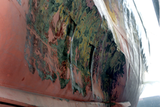 1564 Bulkcarrier Gardno (IMO 7725726, bouwjaar 1980), reparaties aan de beschadigde romp