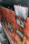 1572 Bulkcarrier Gardno (IMO 7725726, bouwjaar 1980), reparaties aan de beschadigde romp