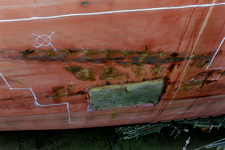1573 Bulkcarrier Gardno (IMO 7725726, bouwjaar 1980), reparaties aan de beschadigde romp