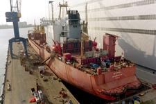 1690 Vrachtschip Igarka (IMO 8857863, bouwjaar 1986), diverse werkzaamheden aan de schroef en vervanging schroefas
