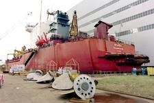 1691 Vrachtschip Igarka (IMO 8857863, bouwjaar 1986), diverse werkzaamheden aan de schroef en vervanging schroefas