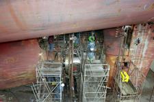 1694 Vrachtschip Igarka (IMO 8857863, bouwjaar 1986), diverse werkzaamheden aan de schroef en vervanging schroefas