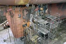 1695 Vrachtschip Igarka (IMO 8857863, bouwjaar 1986), diverse werkzaamheden aan de schroef en vervanging schroefas