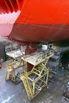 1735 Vrachtschip Igarka (IMO 8857863, bouwjaar 1986), diverse werkzaamheden aan de schroef en vervanging schroefas