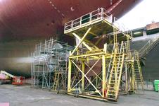 1738 Vrachtschip Igarka (IMO 8857863, bouwjaar 1986), diverse werkzaamheden aan de schroef en vervanging schroefas