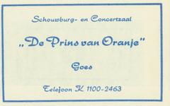 GOE-25 Schouwburg en Concertzaal De Prins van Oranje , Goes