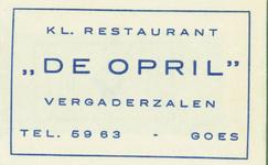 GOE-27 Kl. Restaurant De Opril , Goes