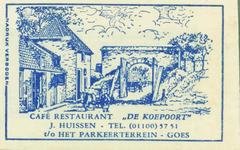 GOE-30 Café restaurant De Koepoort , Goes