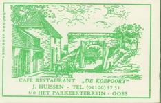 GOE-32 Café restaurant De Koepoort , Goes