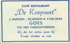 GOE-41 Café Restaurant De Koepoort , Goes