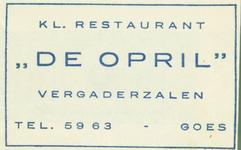 GOE-51 Kl. Restaurant De Opril , Goes
